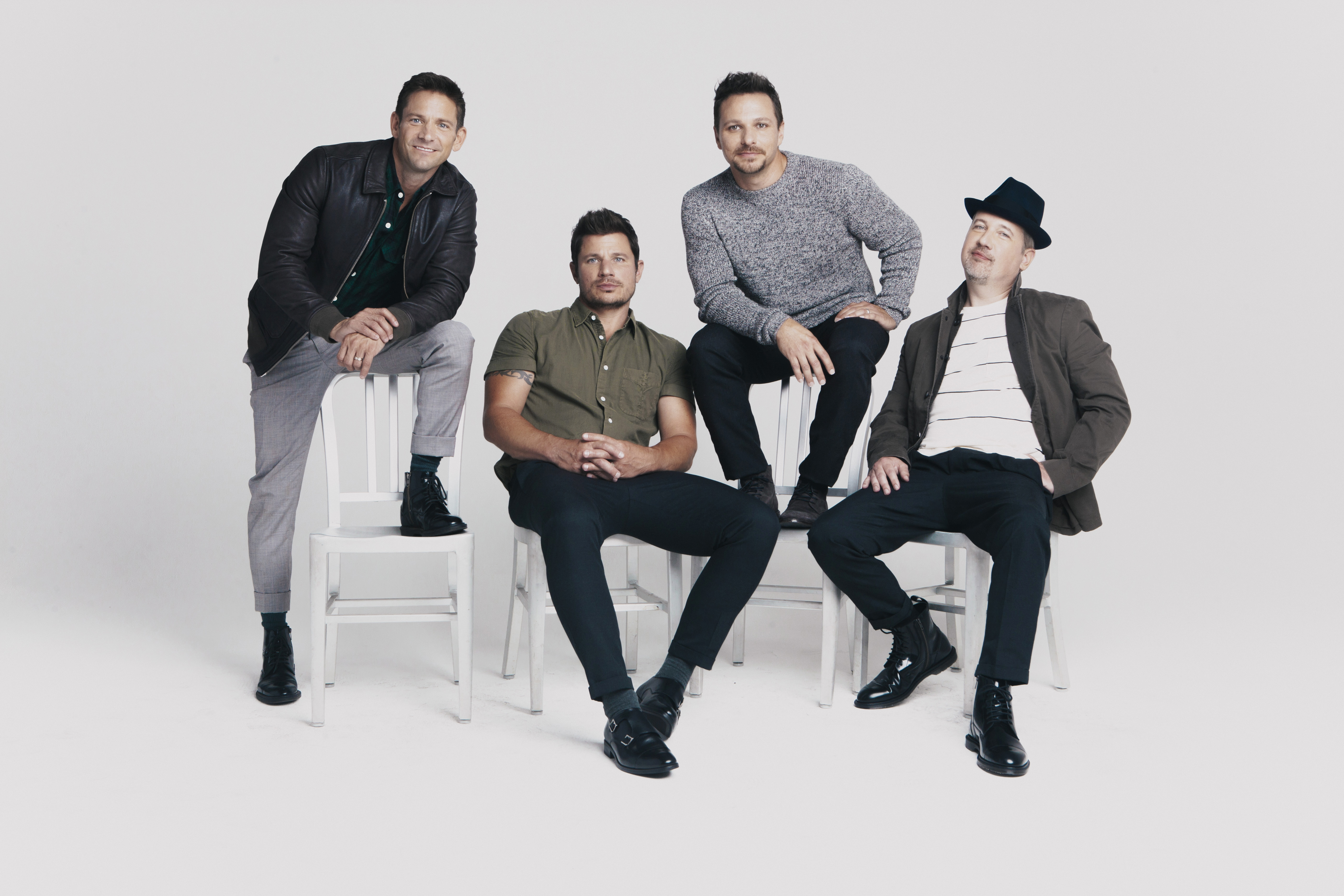 98 Degrees - Let It Snow Press Photo by Elias Tahan